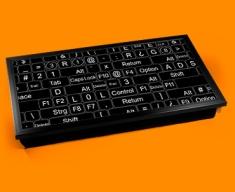 Keyboard Keys Black Laptop Tray