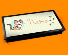 Kitty Personalised Childrens Name Cushioned Laptop Lap Tray
