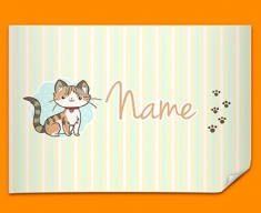 Kitty Personalised Childrens Name Poster