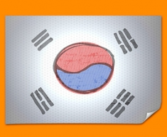 Korea Flag Poster
