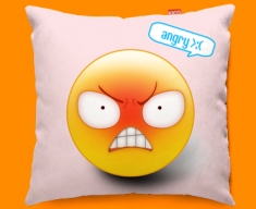 Angry Emoticon Funky Sofa Cushion