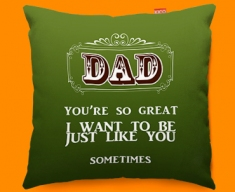 Dad Typography Funky Sofa Cushion
