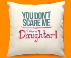 Daughter Typography Funky Sofa Cushion