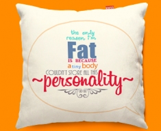 Fat Typography Funky Sofa Cushion