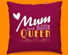 Mum Queen Typography Funky Sofa Cushion