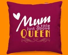Mum Queen Typography Funky Sofa Cushion