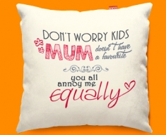 Mum Typography Funky Sofa Cushion