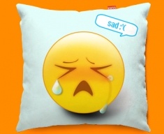 Sad Emoticon Funky Sofa Cushion