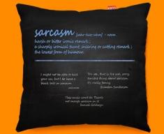 Sarcasm Definition Funky Sofa Cushion