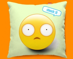 Shock Emoticon Funky Sofa Cushion