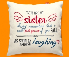 Sister Typography Funky Sofa Cushion
