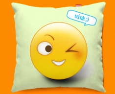 Wink Emoticon Funky Sofa Cushion