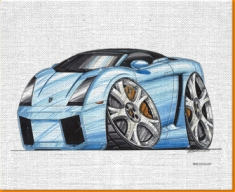 Lamborghini Spyder Canvas Art Print