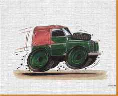 Land Rover Canvas Art Print