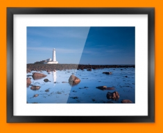 Light House Rocks Framed Print