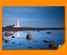 Light House Rocks Poster
