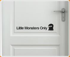 Little Monsters 2 Door Sticker