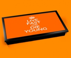 Live Fast Keep Calm Laptop Lap Tray