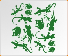 Lizards and Frogs Set Wall Sticker