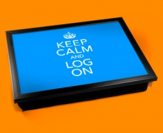 Log On Keep Calm Cushion Lap Tray
