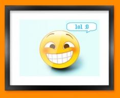 Lol Emoticon Framed Print