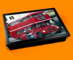 London Bus Cushion Lap Tray