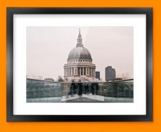 London St Paul Framed Print