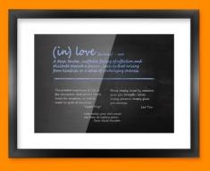 Love Definition Framed Print