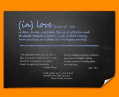 Love Definition Poster