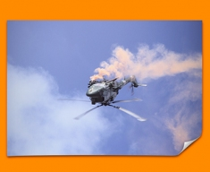 Lynx Westland Plane Poster