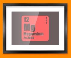 Magnesium Periodic Element Framed Print