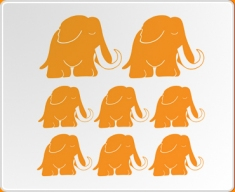Mammoth Set Wall Sticker