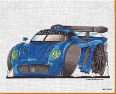 Maserati Canvas Art Print