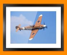 Me 109 Messerschmitt Plane Framed Print