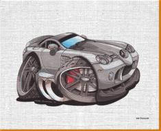 Mercedes SLRCanvas Art Print