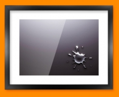 Mercury Splash Framed Print
