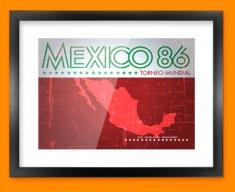 Mexico 86 Flag Framed Print