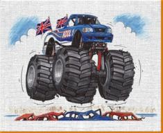 Monster Truck Canvas Art Print