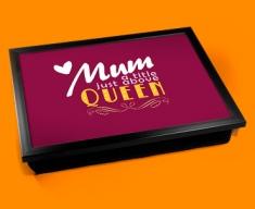 Mum Queen Typography Lap Tray