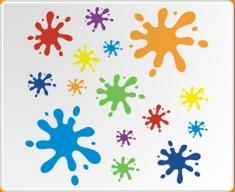 Muticoloured Splat Wall Sticker