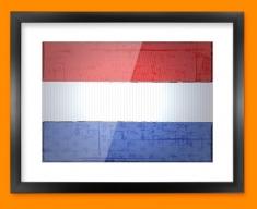 Netherlands Flag Framed Print