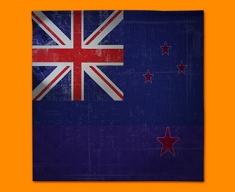 New Zealand Flag Napkins (Set of 4)
