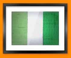 Nigeria Flag Framed Print