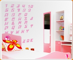 Numbers and Letters 4 (Powerpuff Set) Wall Sticker