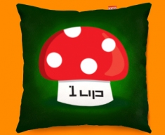One Up Mushroom Funky Sofa Cushion 45x45cm