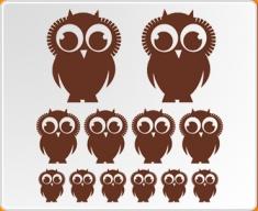 Owls Set Wall Sticker