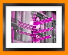 Oxford Circus Framed Print
