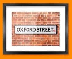 Oxford Street UK Street Sign Framed Print
