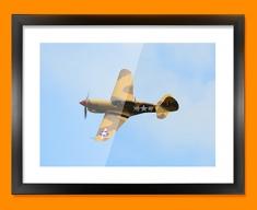 P 40 Warhawk Curtiss Plane Framed Print