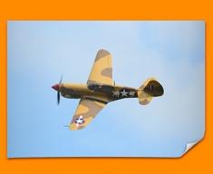 P 40 Warhawk Curtiss Plane Poster